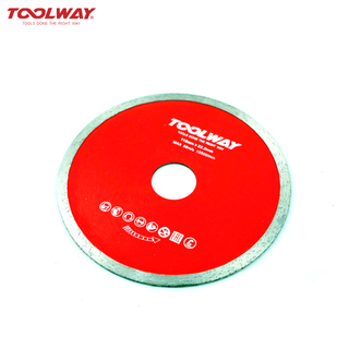 Hot press circular saw blade for ceramics and tiles